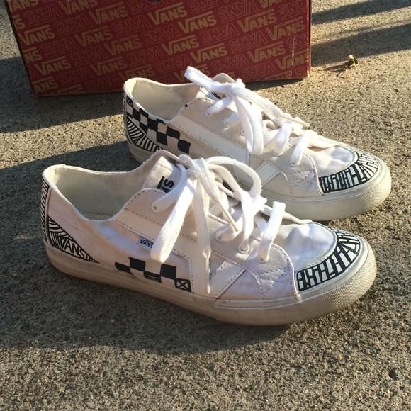 Custom Off White Vans Tory Shoes